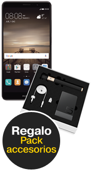 Huawei Mate 9 negro + Pack Accesorios