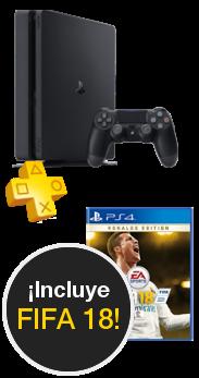 Sony PlayStation 4 Slim 1 TB + Fifa 18 + PS Plus 14 day