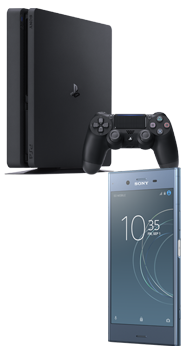 Sony Xperia™ XZ1 azul + Sony PlayStation 4 Slim 500 GB