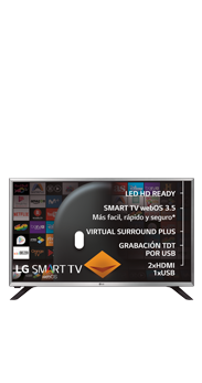 Televisor LG 32 Smart TV LG590U negro