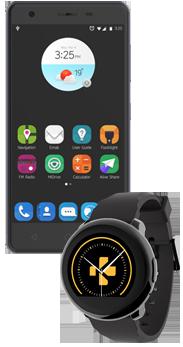 Orange Neva 80 Negro + Smartwatch Mykronoz Zeround Negro