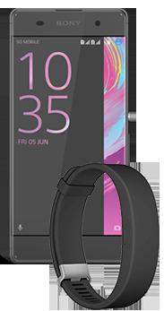 Sony Xperia™ XA negro + Sony SmartBand 2 negra