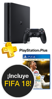 Sony PlayStation 4 Slim 1 TB + Fifa 18 + PS Plus 14 day