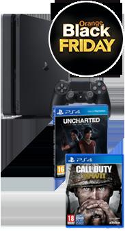 Sony PlayStation 4 Slim 500 GB + COD WWII + Uncharted El legado perdido