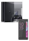 Sony Xperia™ XA negro + PlayStation 4 Slim 500 GB