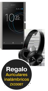 Sony Xperia™ XA1 negro (SM11) + auriculares inalámbricos ZX330BT
