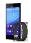 Sony Xperia™ M4 Aqua negro (E2303) + Sony SmartBand 2 negra (SWR12)