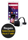 Alcatel Idol 4 VR oro + Tablet Alcatel Pixi 4 (7.0) WiFi blanco