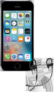 iPhone SE 16 GB gris espacial + auriculares Powerbeats 3