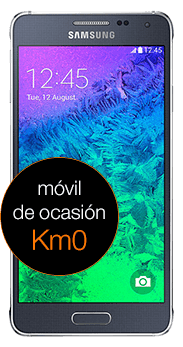 Samsung Galaxy Alpha negro Km0