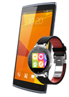 Orange Nura negro + Alcatel Watch negro