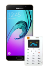 Samsung Galaxy A5 2016 dorado (A510F) + Orange Card Phone blanco