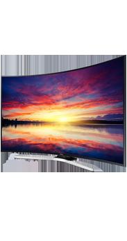 Televisor Samsung curvo 49 Smart TV KU6100 UHD negro