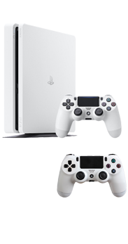 Sony PlayStation 4 Slim 500 GB blanco + Mando extra