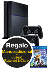 Sony PlayStation 4 1 TB + Ratchet & Clank + Mando extra