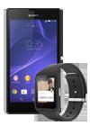 Sony Xperia™ T3 negro + Smartwatch 3 negro (SWR50)